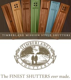 craftsman cedar shutters - Google Search