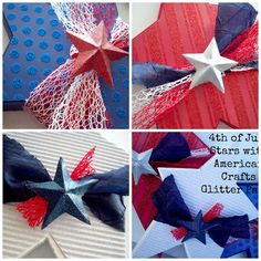4th Of July Stars using @Janet Russell-Snider Crafts glitter paper