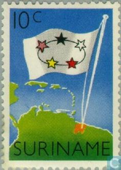 1960 Suriname - Charter for the Kingdom Kingdom Of The Netherlands, Postage Stamps, South America, Germany, Country, Rural Area, Stamps, Country Music, Deutsch