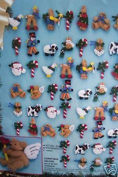 Bucilla Felt Applique Holiday ORNAMENT KIT,CHRISTMAS GALORE,Daisy Kingdom,Set 50 #Bucilla