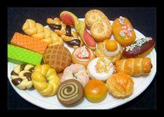 10 Surtido miniatura linda casa de muñecas Petit Mini Pasteles, muñecas, alimento falso, pastelería, pan, galletas, tarta, Pastelería, Panadería, Cafetería, Pastelería