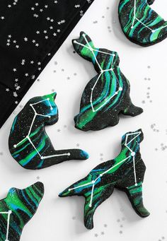 Animal Constellation Cookies and my Favorite Fondant Marbling Technique | Sprinkle Bakes