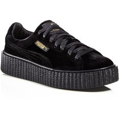 Fenty Puma x Rihanna Womens Velvet Lace Up Creeper Sneakers ( 160) ❤ liked  on 51e2da0a8