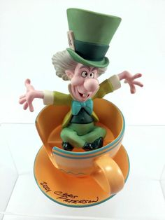 Signed Mad Hatter Mad Whirl WDCC Chris Peterson Limited 94/750 2001 WDAC