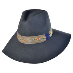 Paisley Floppy Fedora hat available at  VillageHatShop Fedora Hat Women 5985c28b7ee