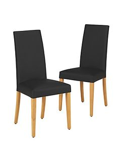 2 Alton Leather Natural Legs Dining Chairs | M&S