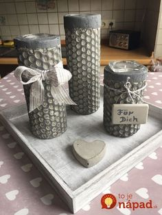 1 Year Old Arts And Crafts Refferal: 4534887900 Concrete Cement, Concrete Planters, Diy Planters, Concrete Crafts, Concrete Projects, Diy Projects, Candle Arrangements, Papercrete, Wooden Signs