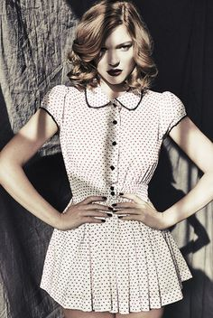 Lea Seydoux, Glamour, Playsuit, Short Sleeve Dresses, Photoshoot, Pullover, Clothes, Tops, Women