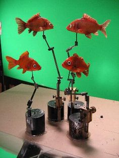 """Frankenweenie fishes sculpted by """"SculptDouble"""" Clay Animation, Animation Stop Motion, Animation Tutorial, Stop Motion Armature, Stop Motion Photography, Mary And Max, Shaun The Sheep, Puppet Making, Surrealism"""