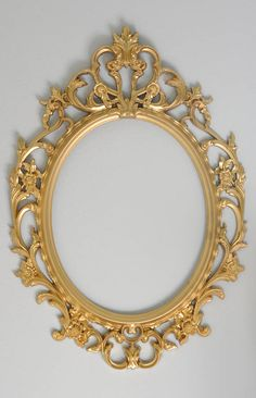 Gold Ornate Oval Frame Shabby Chic Frame Wedding Photo Prop