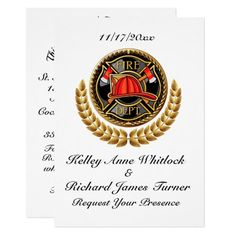 Firefighter Wedding Invitation firefighter necklace, wedding firefighter, firefighter womens #militarydad #bunkergear #blanket, back to school, aesthetic wallpaper, y2k fashion Firefighter Costume Toddler, Firefighter Crafts, Firefighter Humor, Firefighter Workout, Firefighter Family, Firefighter Wedding, Firefighter Pictures, Female Firefighter, Volunteer Firefighter Quotes