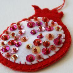 pomegranate ornament, via Flickr.