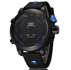 Pánské hodinky OHSEN voděodolné do 30 metrů modré – pánské hodinky Na tento  produkt se vztahuje 5d4001bf39