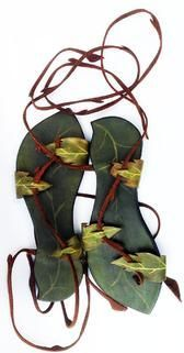 Pendragon Shoes- Vine Leaf Sandals. Here are the greeny-spring coloured ones!!