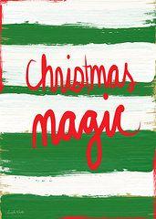 Christmas Art - Christmas Magic - Greeting Card  by Linda Woods