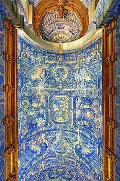 Church of São Lourenço, Almancil, Portugal – Maria – Join the world of pin Portuguese Culture, Portuguese Tiles, Brazilian Portuguese, Visit Portugal, Spain And Portugal, Lisbon Portugal, Religious Architecture, Amazing Architecture, Classical Architecture