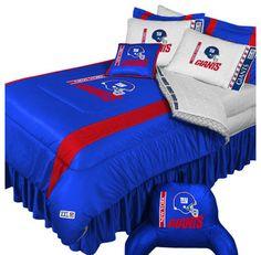 ♥♥NFL New York Giants Football Team 5pc Queen Bedding Set modern kids bedding