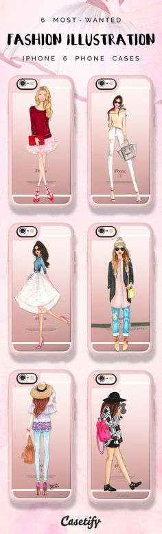 Top 6 chic fashion illustration iPhone 6 phone case designs | Click through to see more protective see through iPhone phone case ideas >>> https://www.casetify.com/artworks/ivYVmVoEad #fashionista | @casetify