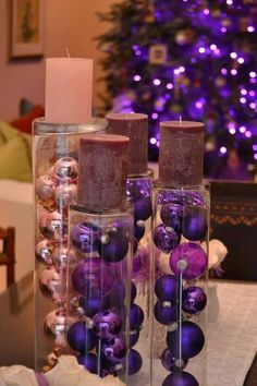 """Neat way to do an Advent """"wreath."""" Could def work with the blue and silver theme"""