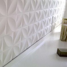 Paper Wall Tiles hexagon random pattern decorative tiles in black & white colours