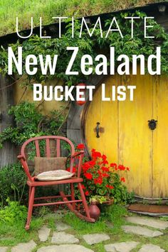 Ultimate New Zealand Bucket List. I've lived in NZ and it is truly an amazing place. Anyone looking for a unique, beautiful, and fun travel destination should check it out!