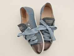Sneakers style flat shoes/ women flat shoes/ jean by Childrenshop, $57.00