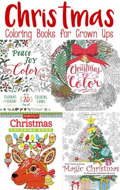Christmas Coloring Books for Adults - a list of intricate Christmas themed coloring books for grown ups