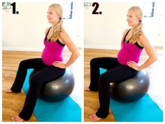 Pelvic Tilts - Great Pregnancy Exercise.