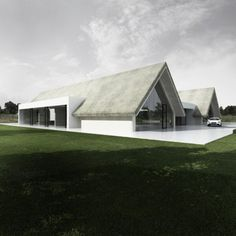 Image 23 of 26 from gallery of Kamyk Heritage Park / Tamizo Architects. Roof Architecture, Residential Architecture, Contemporary Architecture, Modern Barn House, Modern House Design, Tamizo Architects, Archi Design, Thatched Roof, Building A House
