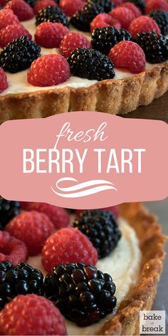 Turn fresh berries into a sweet, beautiful dessert with this Fresh Berry Tart. ~ http://www.bakeorbreak.com