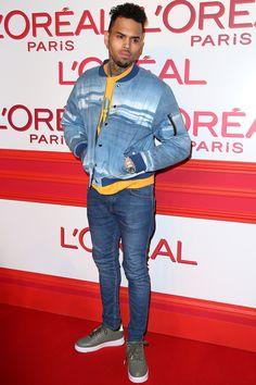 Chris Brown à la soirée L'Oréal Red Obsession