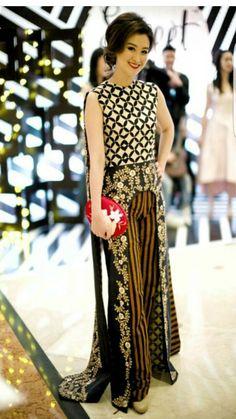 Batik Blouse Batik, Batik Dress, Lace Dress, Batik Fashion, Boho Fashion, Dress Batik Kombinasi, Mode Batik, Bridal Pants, Batik Kebaya