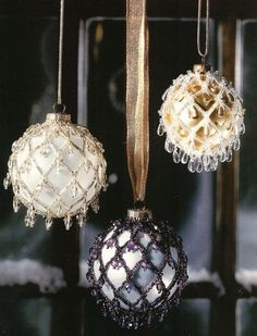 Beaded Holiday Elegance Christmas Ornament Cover