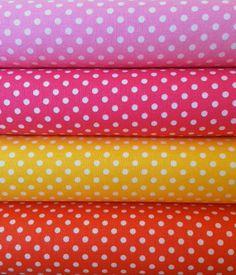 Lecien Basics Dot Bundle, Half Yard Each, Quilting Cotton, Japanese Lecien Cotton