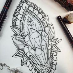 Spiritual crystal tattoo.                                                                                                                                                                                 More