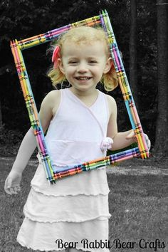 Cute project to make with kids and then add their picture to the frame   Top Projects of 2012 from Bear Rabbit Bear Crafts