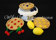 Cherry Pie Blueberry Pie or Lemon Pie choose by WikiWikisCreations, $30.00
