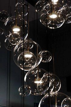 lampe fibre optique design et bulles. Black Bedroom Furniture Sets. Home Design Ideas