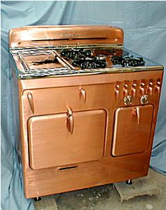 copper microwave | We have an antique Chambers copper stove in our kitchen. Really sweet ...