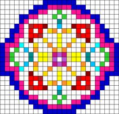 Dream Catcher perler bead pattern
