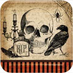 Creepy Halloween Party, Halloween Shadow Box, Halloween Party Supplies, Halloween Pictures, Halloween Signs, Halloween Horror, Spooky Halloween, Vintage Halloween, Halloween Crafts