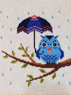Cross-stitch Owl