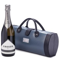 Croser Traveller   Champagne and Wine Gifts   Wine Hampers - Bockers and Pony  Petaluma Croser is an elegant blend of Pinot Noir and Chardonnay with flavours that are likened to a bouquet of fresh citrus and white peach. This sparkling wine is created from the selected sites of the Adelaide Hills, and has been reviewed as being one of the best Australian Sparklings.