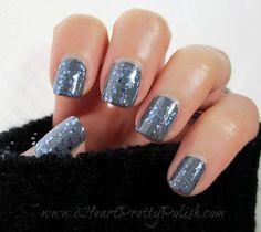 NARS Storm Bird (grey) with Essie Stroke of Brilliance (glitter)