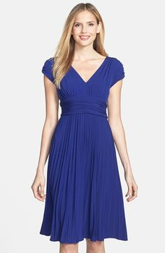 Free shipping and returns on Ivy & Blu Ruched Matte Jersey Dress at Nordstrom.com. Inset Empire waist heightens the figure-flattering silhouette of a fluid matte jersey dress with a ruched V-neck bodice and pleated skirt.