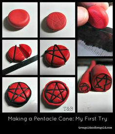 Treegold and Beegold: Star Polymer Clay Tutorial witch craft inspiration pagan wiccan