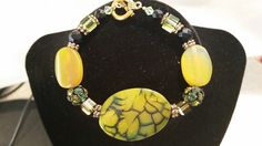 Dragon Vein Agate Stones bracelet. by HappyMemoriesVintage on Etsy