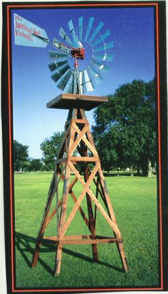 Wind mills, I want one. We have at least two springs under our lawn...this could take care of our lawn/garden needs. Plus they are cute. I fell in love with windmills on the old Pflugerville farms.