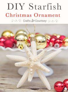 Starfish Christmas Ornament for a coastal Christmas