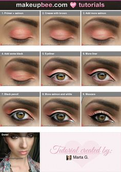 Step-By-Step Tutorial for Moroccan bride look from MakeupBee.com...I want this style and color now and forever for the rest of my life...please!!!